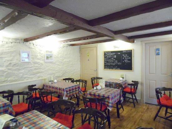 A warm interior providing a cosy atmosphere at Cafe Moka