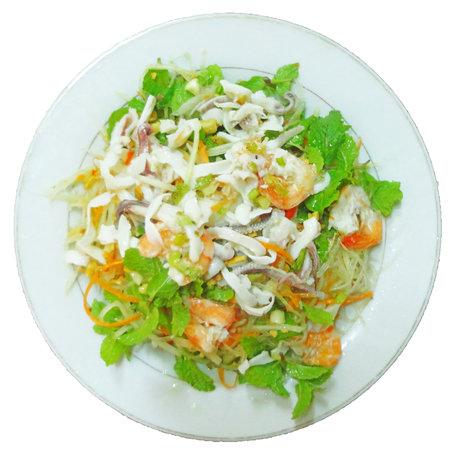 Chinh's Riverside Restaurant - Hoi An: Papaya Shrimp Salad