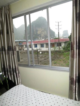 Yangshuo Travellers Land Youth Hostel : View from our private twin room