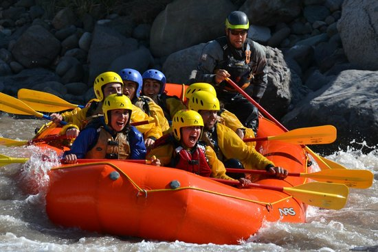 San Jose de Maipo, شيلي: Rafting Maipo River