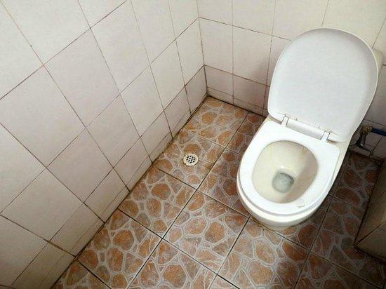 Wulingyuan Zhongtian International Youth Hostel : Bathroom in twin private room