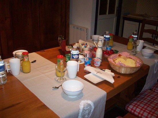 Domaine de Kerhervrec : petit dejeuner