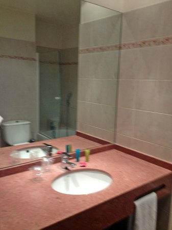 Hotel Alixia: Sink and counter