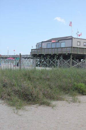 SeaGlass Tower: pier and restaurant.  Cost a dollar to walk to the end of the pier