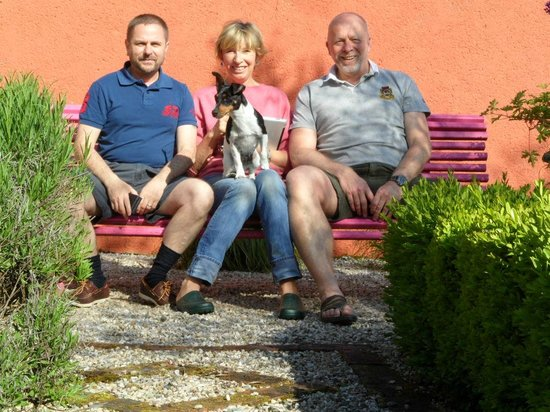 La Frelonniere: the last photo, Julie and her loveable Bella and me