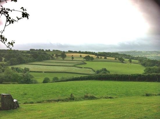 Beera Farmhouse: View from front door over valley