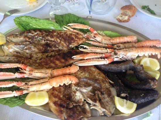 Isola Varano: grigliata mista di pesce