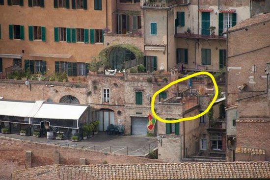 Albergo Bernini: This looking from the Duomo back across the valley to the terrace.