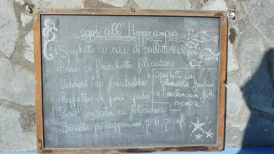 Hippocampus: Il menù cambia tutti i giorni