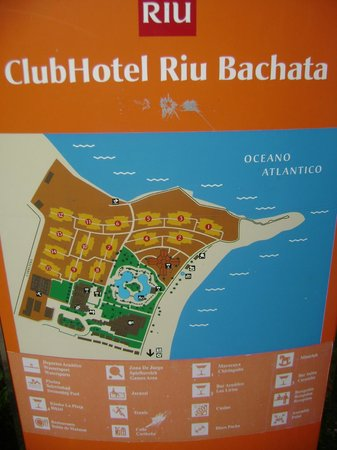 le plan de l 39 h tel picture of clubhotel riu bachata. Black Bedroom Furniture Sets. Home Design Ideas