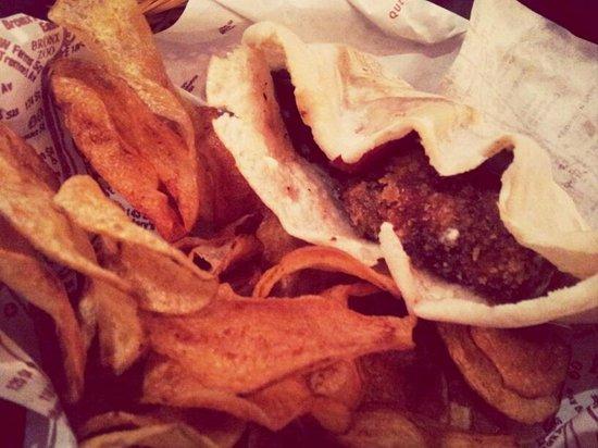 Borough: Cheese injected portobello mushroom sandwich