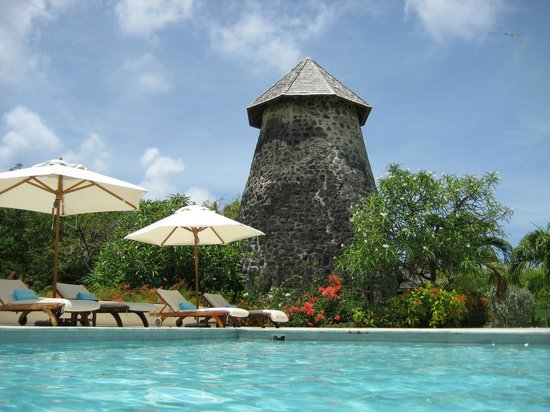 The Cotton House: The old mill by the pool