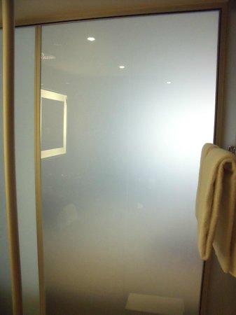Novotel Lugano Paradiso: Badezimmerwand - elektrisch undurchsichtig geschaltet