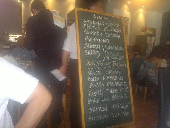 Mastroianni Ristorante Italiano: buiten de kaart keuze menu dagelijks anders