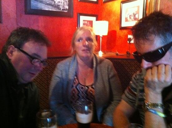 The Ava Winebar & Bistro: From left to right: Adam, Lynn and Andy enjoying a Sunday afternoon Guinness.