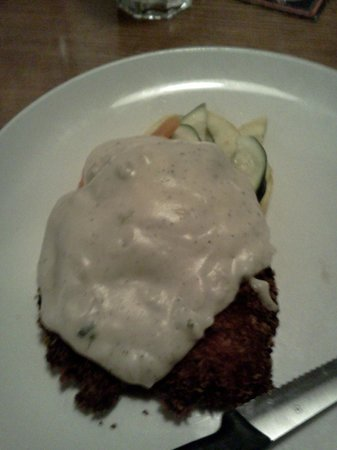 Murphy's: Country-fried Chicken (it did come with mashed potatoes!)