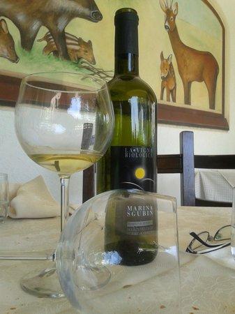 Sgubin: uno dei vini serviti ( e terminati)