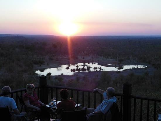 Victoria Falls Safari Lodge: view of watering hole from lodge