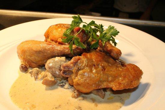 Treyvaud's: Roast Guinea Fowl with Wild Forest Mushroom sauce