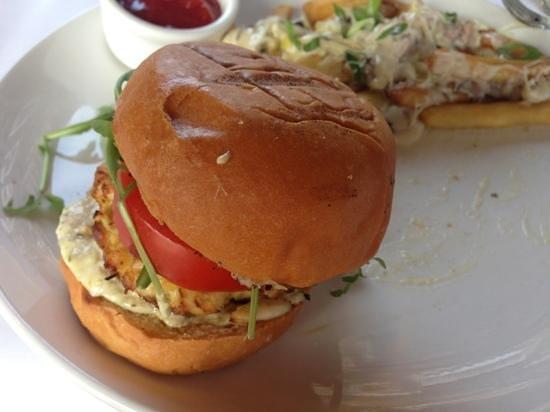 Hooked: crab cake sandwich - yum!