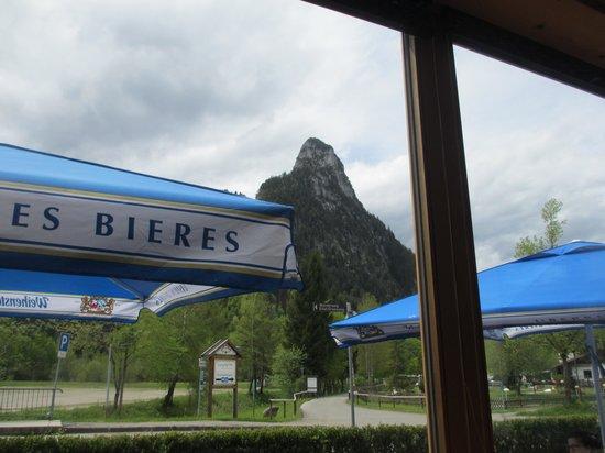 Zauberstub'n Oberammergau: view of Kofel peak from our table
