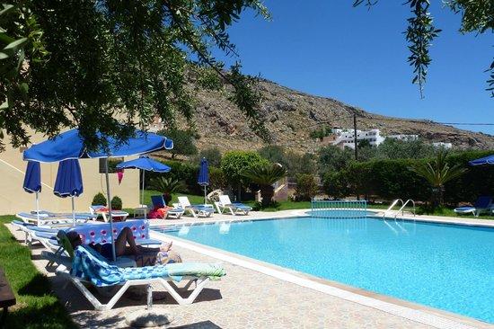 Eleni's Studios: The pool area