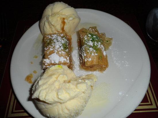 George Michael's: Baklava with ice cream