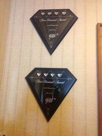 Lovill House Inn : Triple AAA Diamond awards