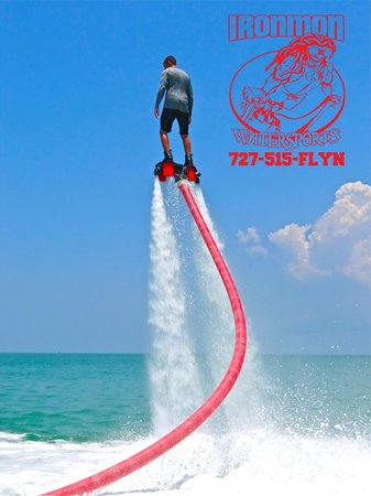 Me having a blast with Ironmon Watersports on the Flyboard