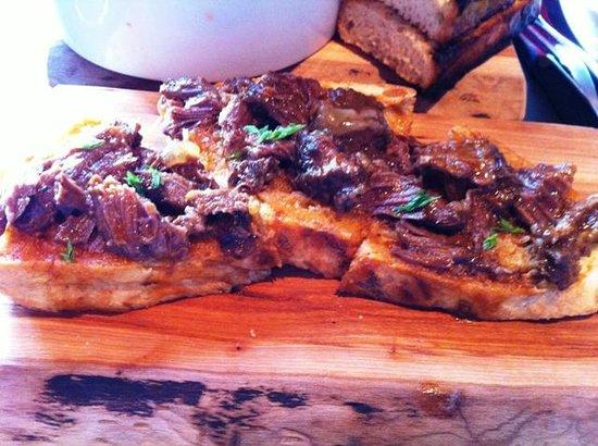 """Pazzo Taverna and Pizzeria: Beef Cheek """"crostini"""""""