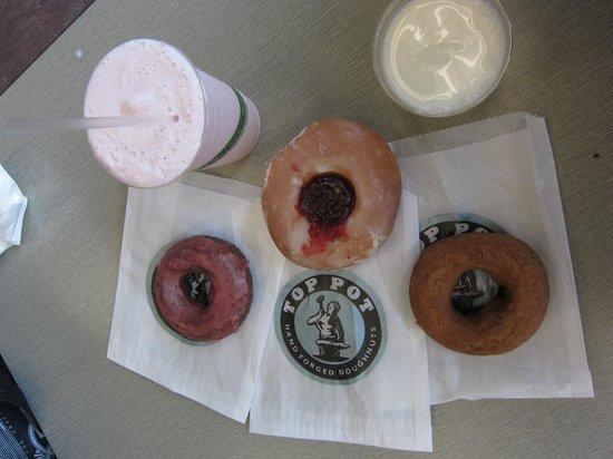 Top Pot Doughnuts: a selection