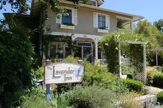 The Lavender Inn: The front entrance to the Inn