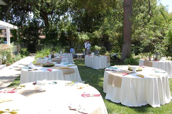 The Lavender Inn Wedding Venue Set Up With Dining Tables