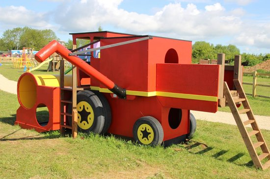 Fairytale Farm: Climb aboard our combine harvester