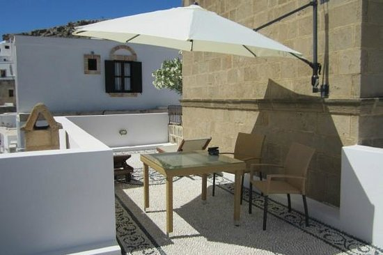 Xenones Lindos: The Rooftop Terrace
