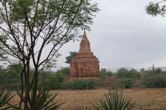 Kumudara Hotel Bagan: Pagodas Outside our Room.