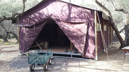 Elsey, Kalifornien: Our tent from the outside