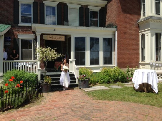Parker House Inn and Restaurant: front door - wedding shot