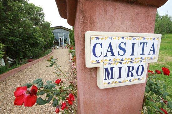 Casita Miro: Pathway to the restaurant