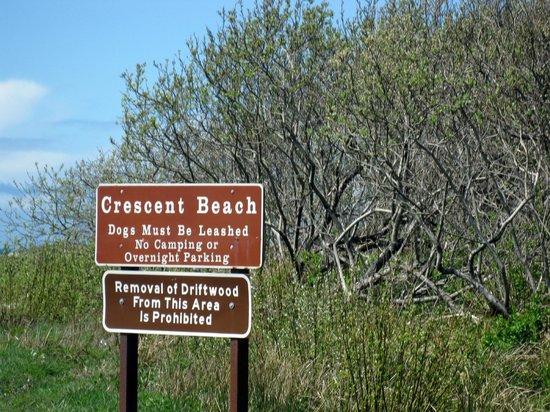 Entrance sign - Crescent Beach, Crescent City