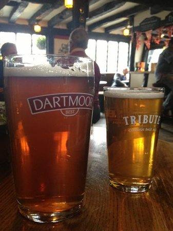 The Cherub Inn Restaurant: Good choice of real ale.