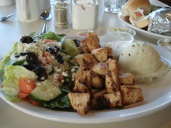 Leeside Restaurant & Patio Bar: Chicken soulvaki