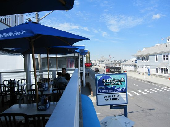 Boardwalk Inn: View from the second floor dining patio.
