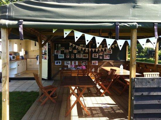 Suffolk Yurt Holidays: Communal Area
