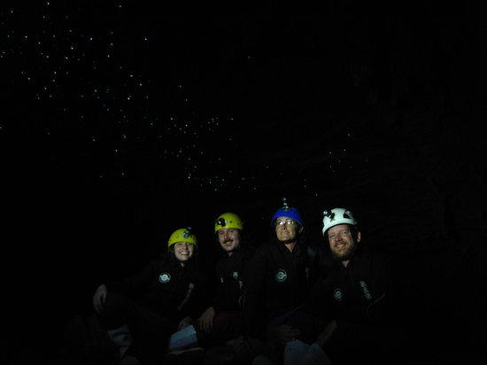 Kiwi Cave Rafting: the worms