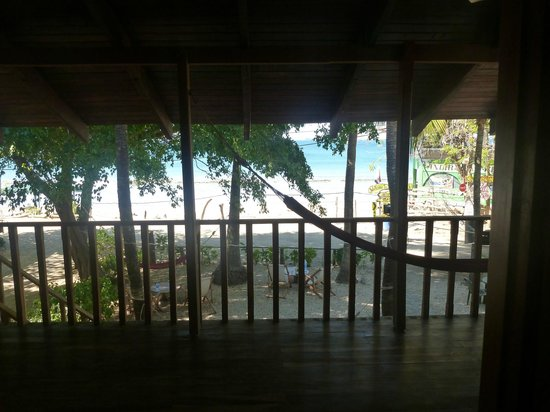 Hotel Brasilito: looking out my window at the hammock and beach