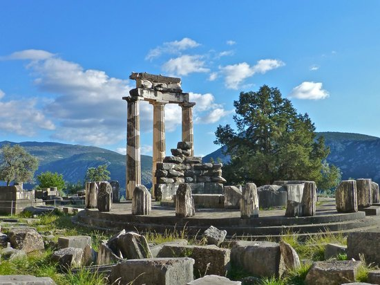 Temple of Athena at Delphi - Picture of Delphi Ruins ...