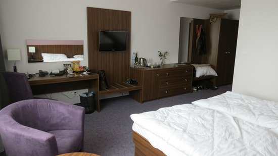 Hotel Saffron: The room