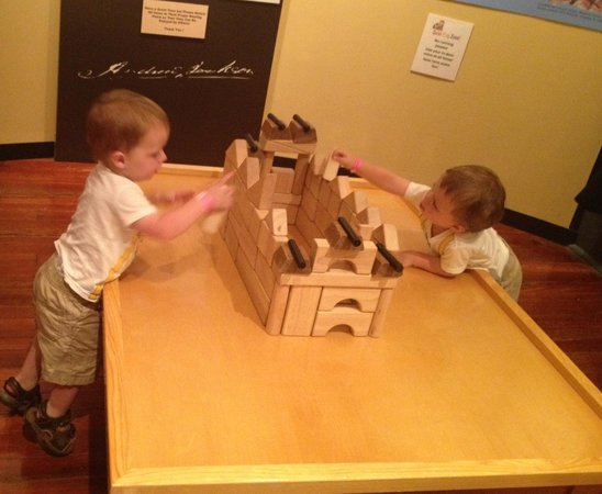 Pensacola Children's Museum: My sons loved the blocks room!