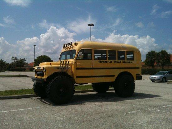 Muscle Car City Museum: School of hard knocks schoolbus.